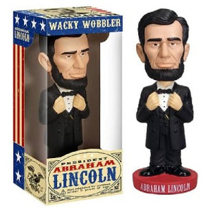 Abraham Lincoln Wacky Wobblers bobblehead