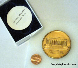Lincoln Memorial medal set