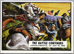 1962 Topps Civil War News Battle Continues
