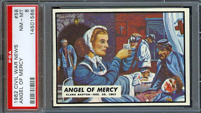 1962 Topps Civil War News 11 Angel of Mercy PSA 8