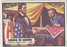 1962 Topps Civil War Abraham Lincoln Council of War French