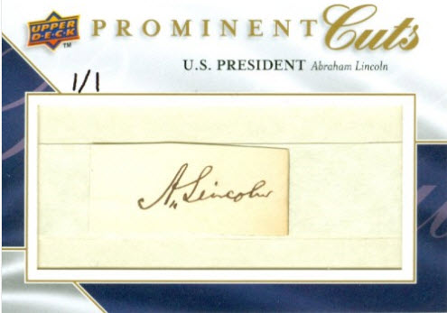 Upper Deck Prominent Cuts Abraham Lincoln PC-HABE