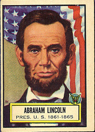 1952 Topps Look &#39;N See Abraham Lincoln <b>baseball card</b> - Topps-1952-Lincoln