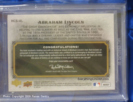 2008 Upper Deck Abraham Lincoln SP Lendary Cuts