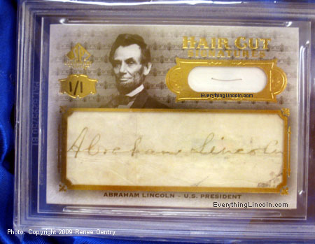 2008 Upper Deck HCS-AL Abraham Lincoln auto cut
