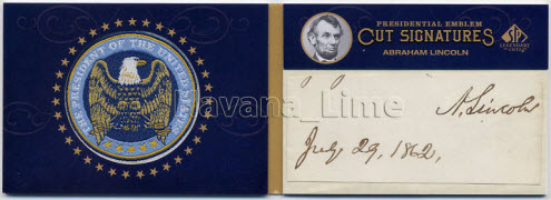 Upper Deck Abraham Lincoln signature