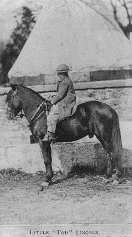 Tad Lincoln on a pony